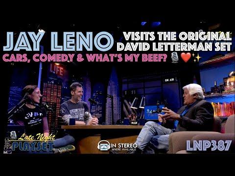 JAY LENO visits Late Night Playset to talk Cars & David Letterman LNP387