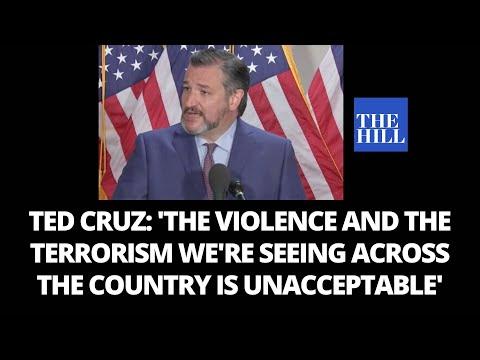Ted Cruz calls out Antifa, slams violence, riots