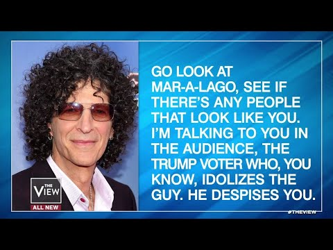 Howard Stern Says Trump Despises His Own Supporters   The View