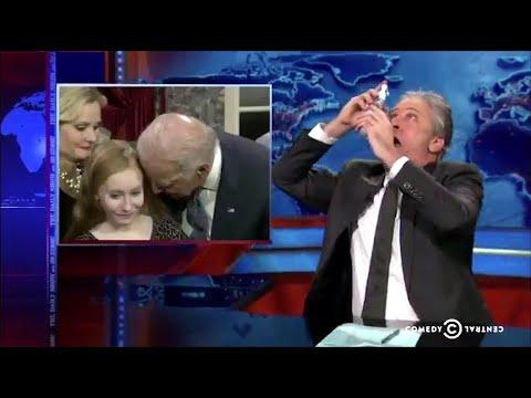 FLASHBACK: Jon Stewart Made Fun Of Biden For Sniffing Girls