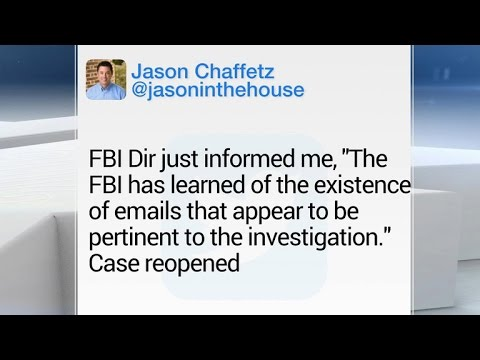 FBI learns of new emails in Hillary Clinton investigation