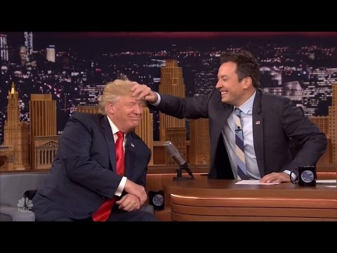Watch Jimmy Fallon Dare To Mess Up Donald Trump's Hair