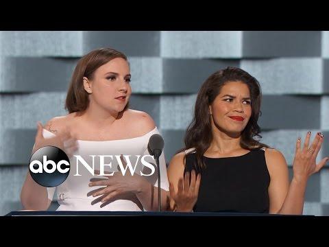 Lena Dunham and America Ferrera Tear Into Trump at the DNC