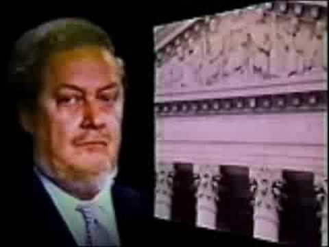 1987 Robert Bork TV ad, narrated by Gregory Peck