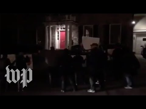 'We know where you sleep at night': Protesters surround Tucker Carlson's home