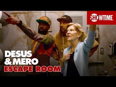 Completing an Escape Room w/ Sen. Elizabeth Warren (D) | DESUS & MERO | SHOWTIME