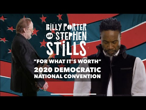"""Billy Porter - """"For What It's Worth"""" with Stephen Stills - 2020 Democratic National Convention"""