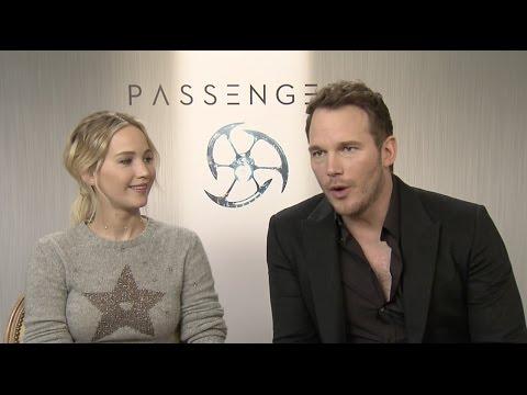 "Passengers: Jennifer Lawrence ""Aurora Lane"" & Chris Pratt ""Jim Preston"" Interview | ScreenSlam"