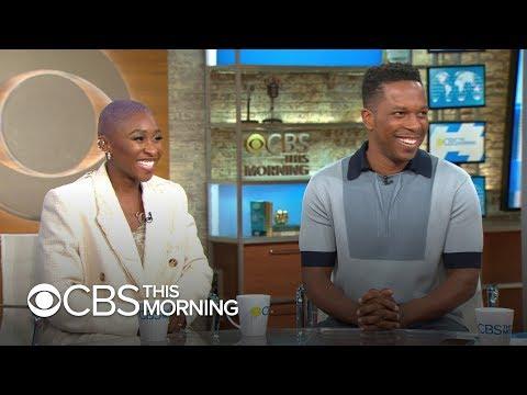 "Cynthia Erivo and Leslie Odom Jr. talk ""Harriet"""