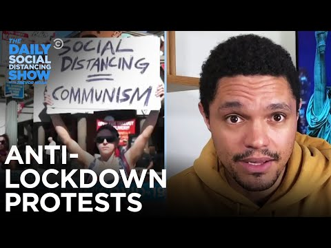 Crowds Protest Coronavirus Lockdown   The Daily Social Distancing Show