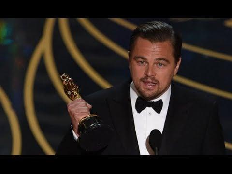 Leonardo Dicaprio ACCEPTANCE SPEECH for Best Actor | Oscars 2016