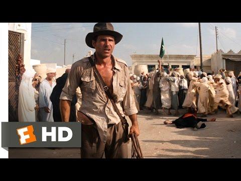 Raiders of the Lost Ark (3/10) Movie CLIP - Sword vs. Gun (1981) HD