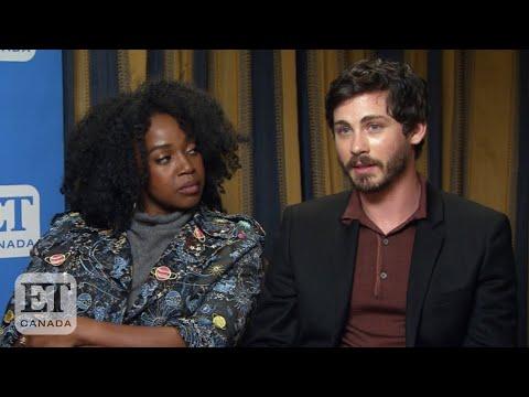 Logan Lerman, Jerikka Hinton Talk 'Hunters' Season 1