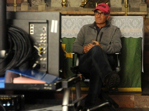Director DAVID FRANKEL on the set of ONE CHANCE