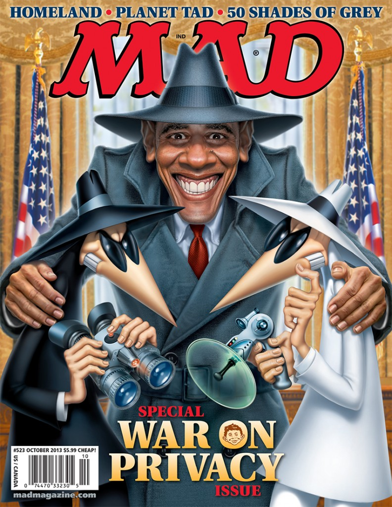 MAD Magazine 523 Cover Obama Spy