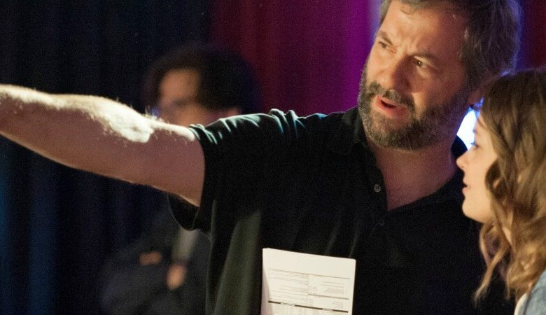 Judd Apatow on the set