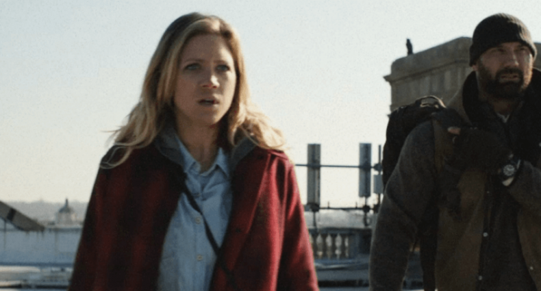 bushwick movie review Brittany Snow Dave Bautista