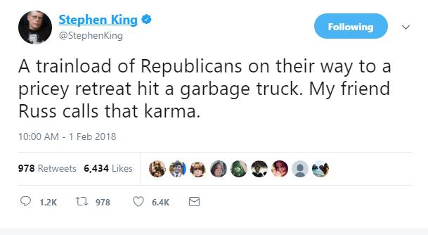 stephen king train tweet