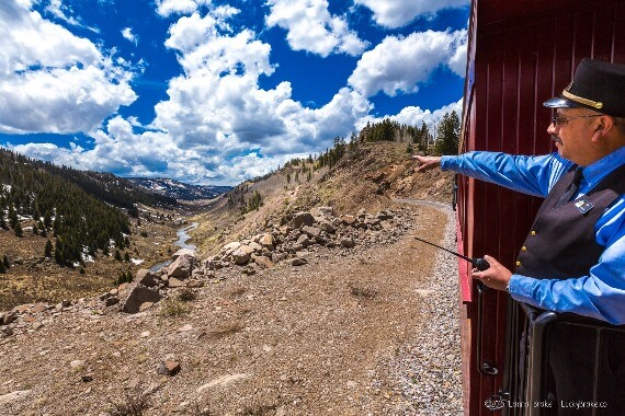 John Wayne westerns Colorado Ray Martinez conductor Cumbres Toltec Rail
