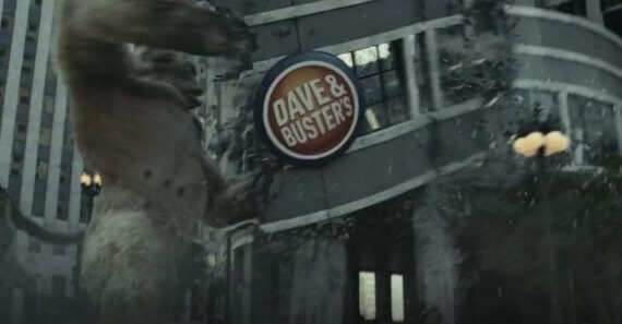 rampage dave busters product placement