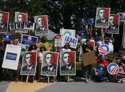 celebrities pledge loyalty to obama