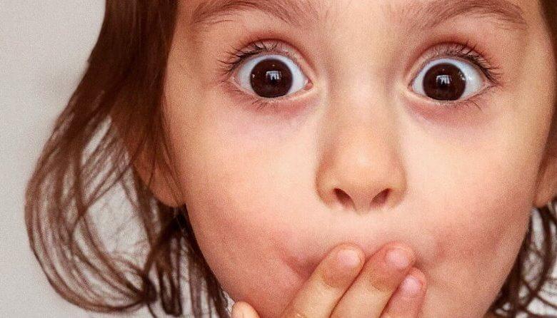 Shocked child face