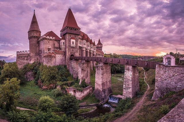 A castle on top of Corvin Castle