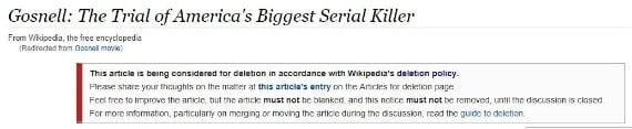 gosnell wikipedia