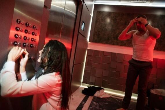 down hulu elevator scene