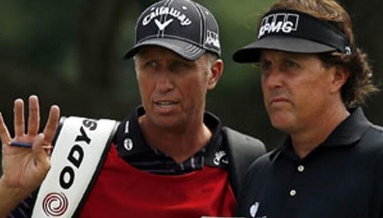 Caddies for Phil Mickelson