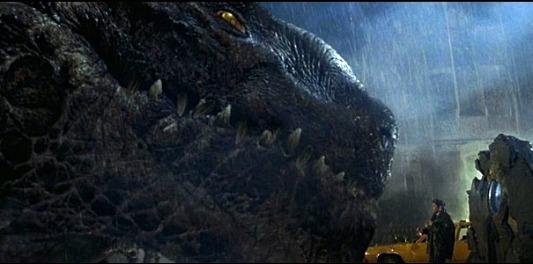 A close up of Godzilla 2019