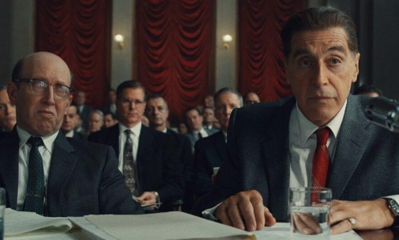 irishman review Al Pacino Jimmy Hoffa