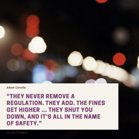 adam carolla on regulations