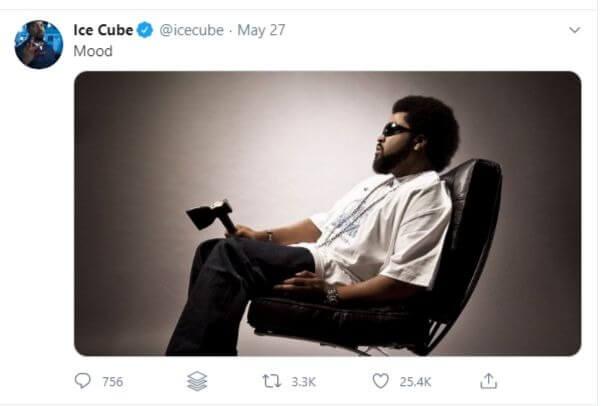 ice cube ax tweet