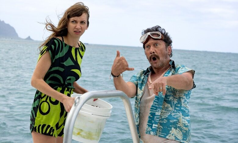 Lauren Lapkus and Rob Schneider in The Wrong Missy