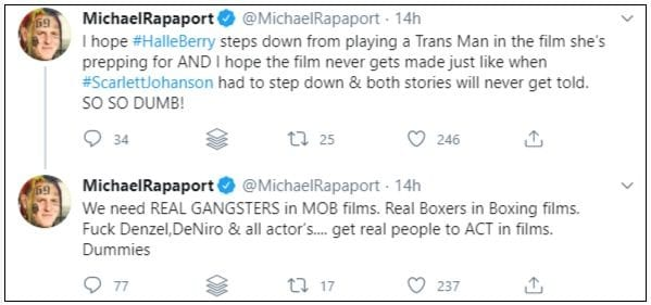 michael rapaport casting tweets