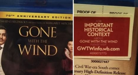 gone with the wind historical context warning sticker