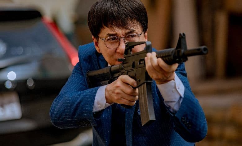Vanguard review Jackie Chan machine gun
