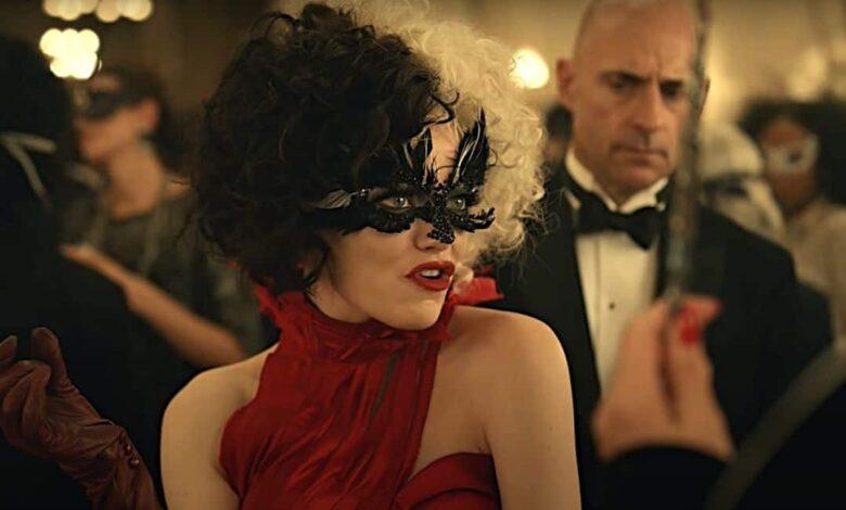 Cruella movie review Emma Stone Mark Strong