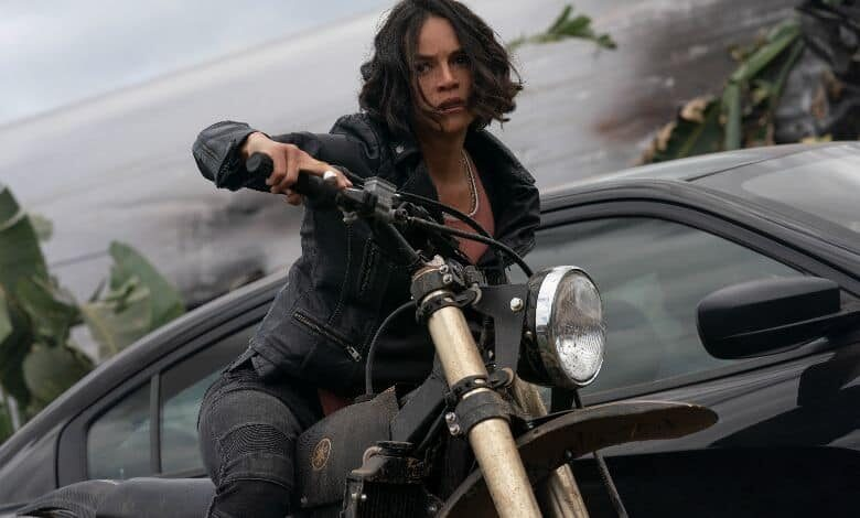 F9 review Michelle Rodriguez motorcycle