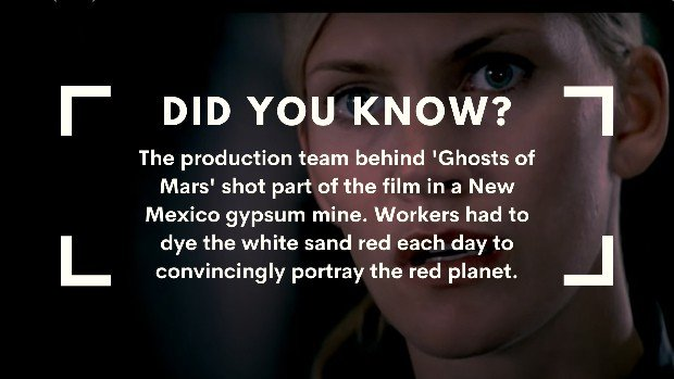 Ghosts of Mars facts
