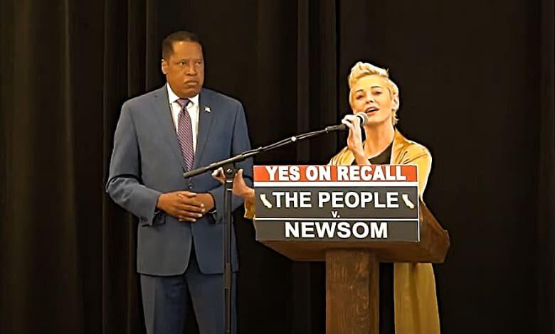 larry elder rose mcgowan press conference media bias